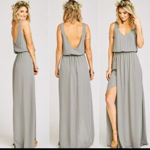 Show Me Your MuMu Kendall maxi dress charcoal